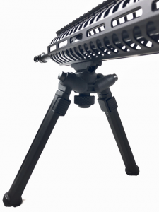 The magpul bipod features single handed adjustability