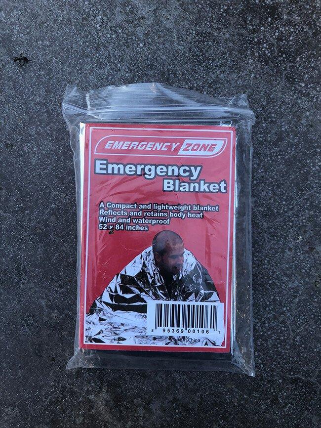 An Emergency Blanket, an IFAK essential.